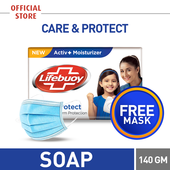Free Surgical Mask With Lifebuoy Soap Care 140 GM (4827629092949)