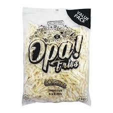 Opa! Fries Original Thin Cut, 6x6mm, 2 KG, Value Pack (4669620093013)