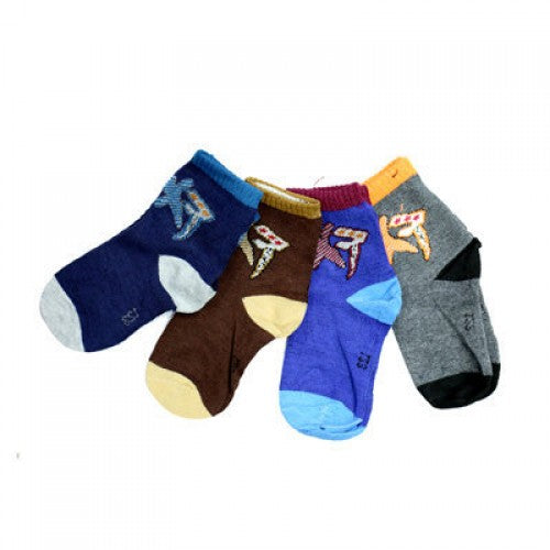 WOOLEN CHILDREN SOCKS SET 4 PCS