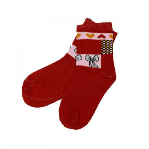 LYCRA CHILDREN SOCKS RED