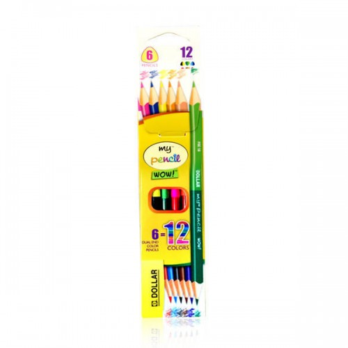 Dollar Dual Color Pencil 12 Colors PDC-161.38 (4756745060437)