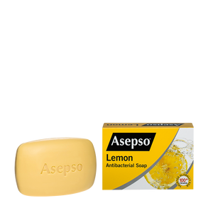 Asepso Lemon Antibacterial Soap 150gm (4651589861461)