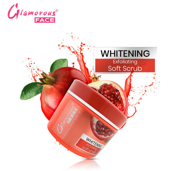 Glamorous Face Whitening Exfoliating Soft Scrub (Jar 500ml) (4643055566933)