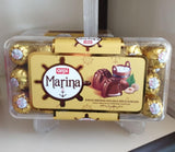 Marina 600 Gram Transparent Chocolate Gift Box Gold Silver Red Pink