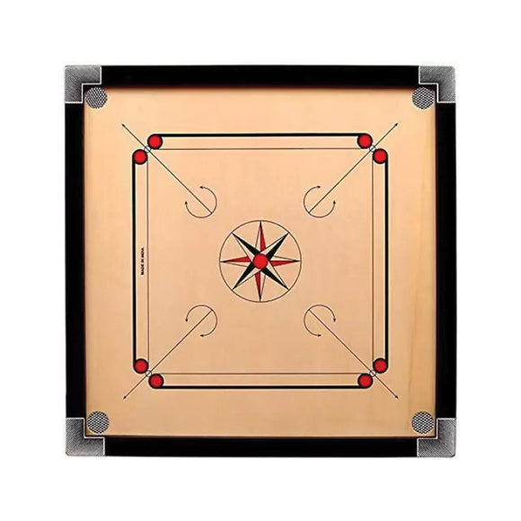 Wooden Carrom Board 28*28 inch with chemical and boric powder (4617158295637)