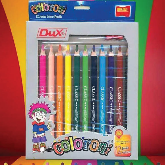 Dux Coloroni 12 Jumbo Color Pencil 712 Multi Color