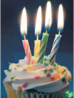 Packs Of 10 Relighting Birthday Candles - Multicolour (4624289988693)