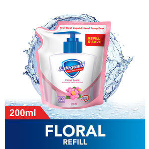 Safeguard Liquid Hand Soap Wash Floral Scent 200ml