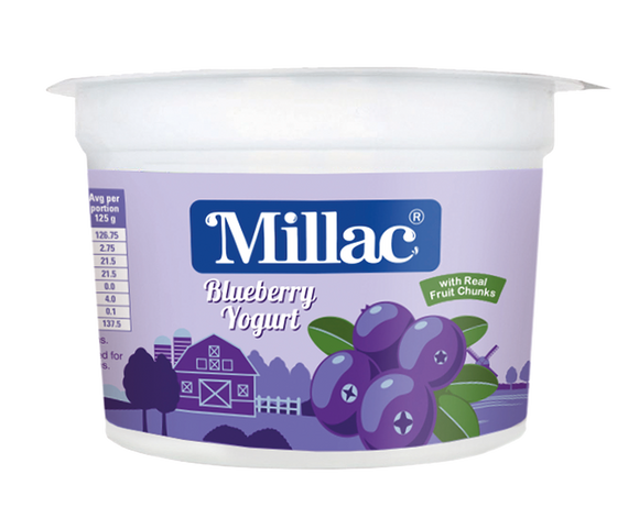 Millac Blueberry Fruit Yogurt Pulpy Goodness small
