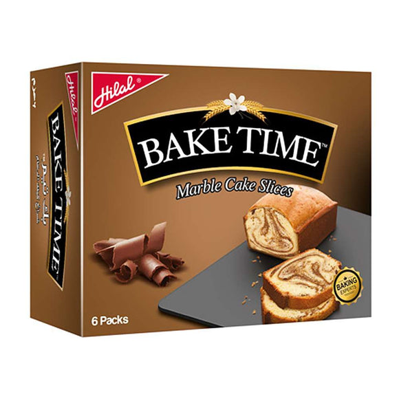 Hilal Bake Time Marble Cake Slices 6 Packs 40g