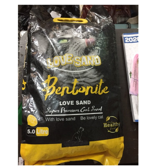 Love Sand Bentonite Cat Litter LEMON 5ltr (4817746100309)