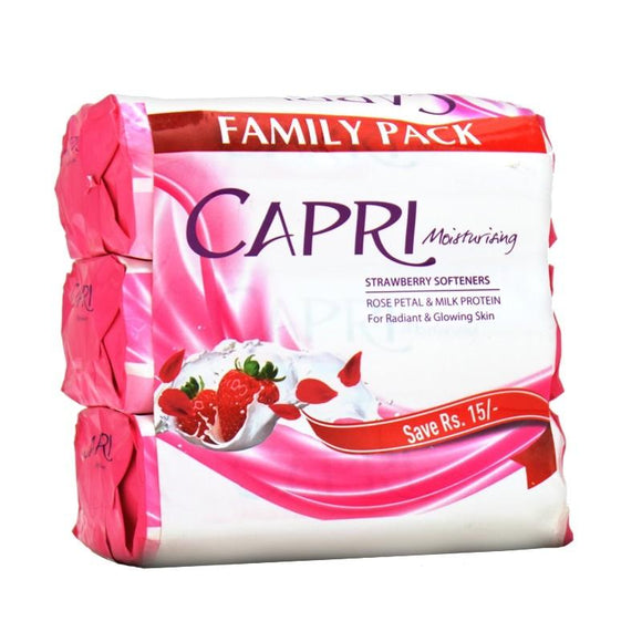 Capri - Capri Moisturizing Strawberry Softeners Soap (Family Pack) - 420gm (4611975282773)