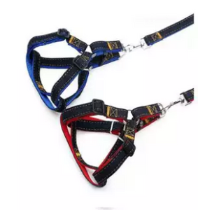 Jeans Harness & Leash For Your Dog (4631357259861)