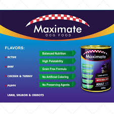 2 PCS MAXIMATE DOG CANNED FOOD - CHICKEN AND TURKEY 400 GRAMS