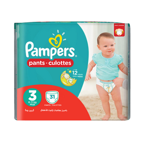 Pampers Pants 6 To 11kg 31Pcs