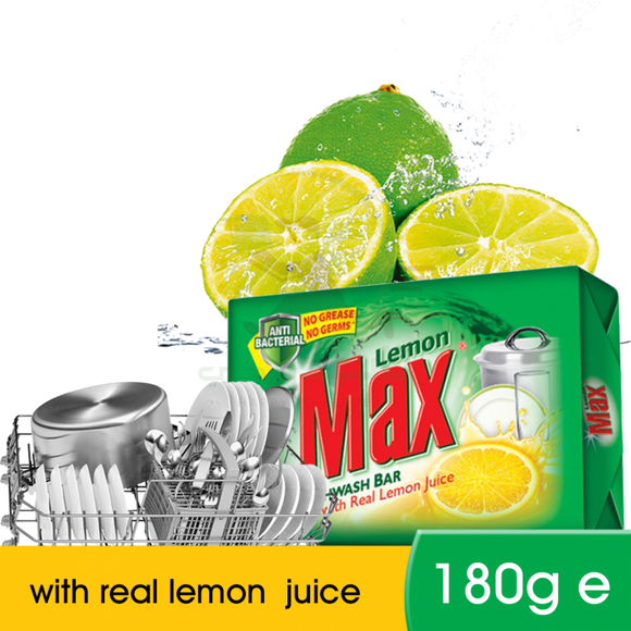 Lemon Max Dishwash Bar 180g (4837154029653)