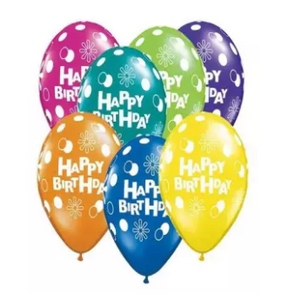 100Pcs Happy Birthday Printed Balloons with Air Pump SP-999