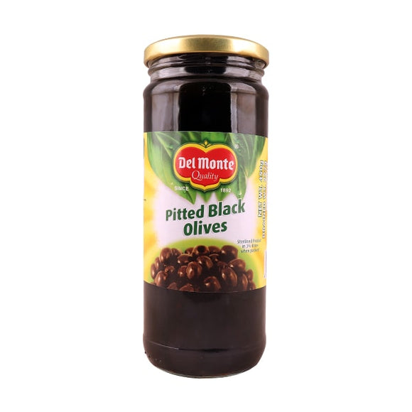 Del Monte Black Pitted Olives 450gm