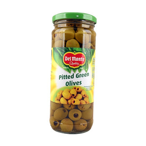 Del Monte Green Pitted Olives 450gm