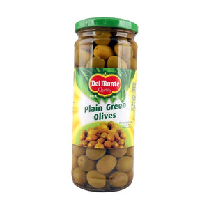 Del Monte Green Plainwhole Olives 450gm