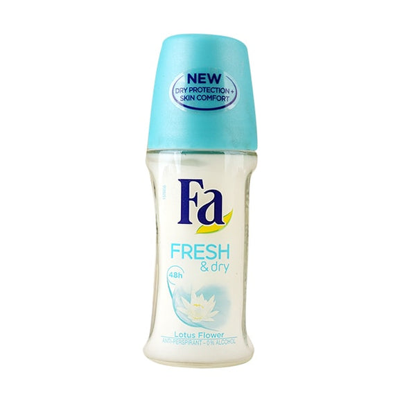 FA Fresh And Dry Lotus Flower Anti Perspirant Deodrent Roll On 50ml