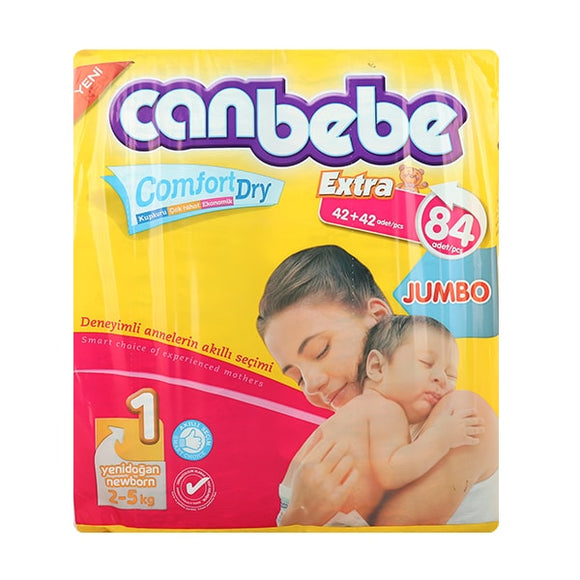 Canbebe Jumbo New Born  84-Pack (4716621168725)