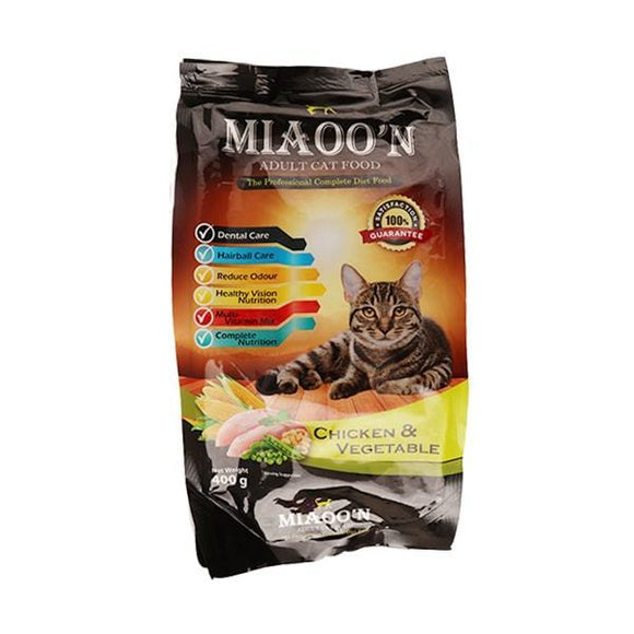 MIAOO'N Dry Cat Food Chicken & Vegetable 400G (4817704288341)
