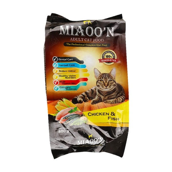 MIAOO'N Dry Cat Food Chicken & Fish 400G (4817705795669)