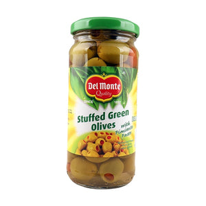 Del Monte Green Stuffed+Pimento Olives 235gm