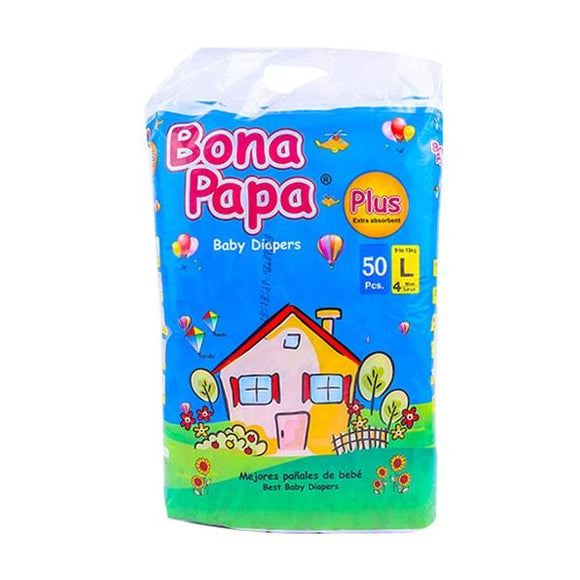 Bona Papa Baby Diapers Plus Large Maxi Size 50 Pcs (4611904667733)
