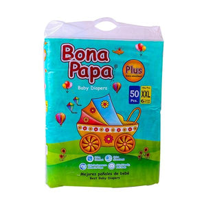 Bona Papa Baby Diapers Plus XXL Size 50 Pcs