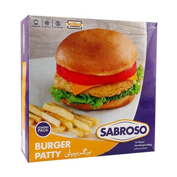 Sabroso Burger Patties Economy Pack 1kg