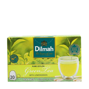Dilmah Pure Ceylon Green Tea With Lemon Grass 20 Tea Bags 40gm Sabz Nimbu Wali Chai