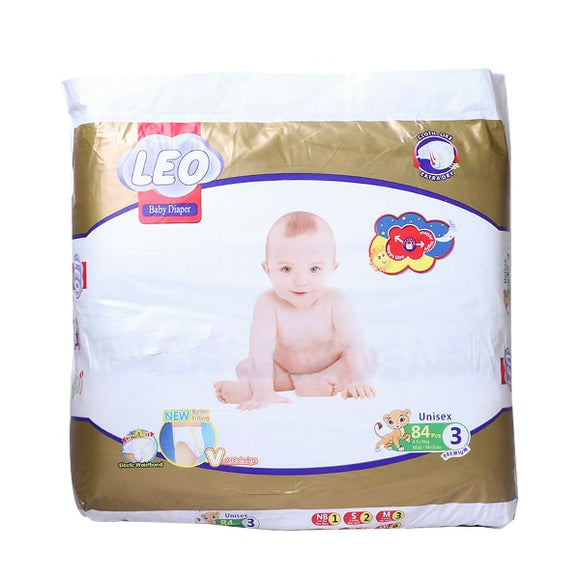 Leo Premium Mega Medium Diaper 84Pcs