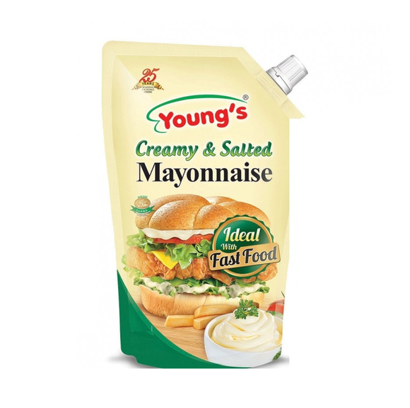 Young'S Creamy and Salted Mayonnaise Pouch 1Ltr (4611891200085)