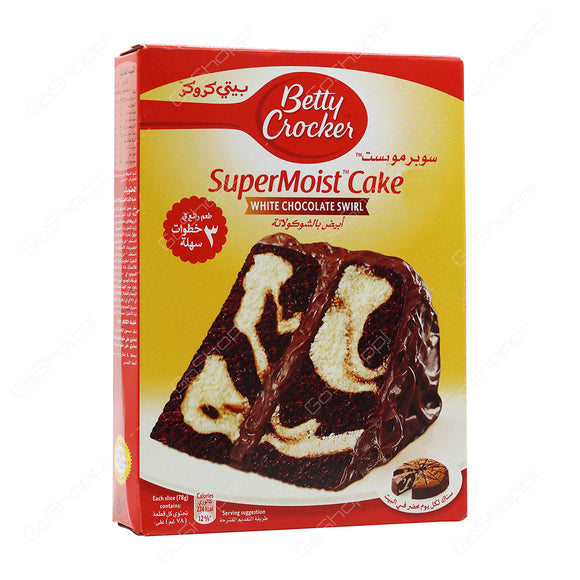 Betty Crocker Super Moist White Chocolate Swirl 500g
