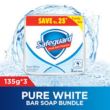 Safeguard - Safeguard Pure White Soap - 135gm  x3 family pack (4611977642069)