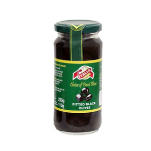 Italia Pitted Black Olives 230 G (4625690722389)