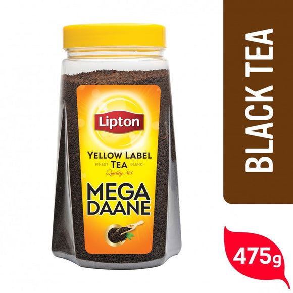 Lipton Yellow Label Tea Mega Daane Jar  Chai Patti 475gm (4612935254101)