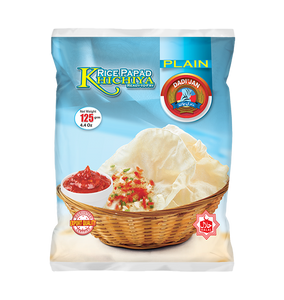 Dadi Jan Khichiya Rice Papad Plain 125gm (4655476211797)