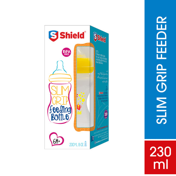 Shield Slim Grip Feeding Bottle 230ml