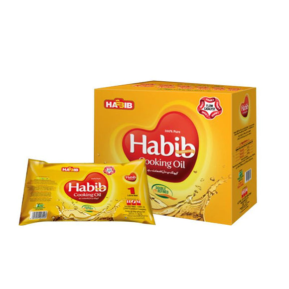 Habib Cooking Oil Pouch Pakwan Tail 1 Litre X 5 Pouches (4611899031637)