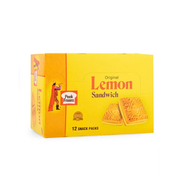 Peek Freans Lemon Sandwich Box of 12 Snack Pack
