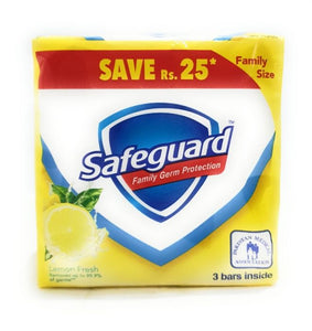 Safeguard - Safeguard Lemon Fresh Soap - 135gm  pack of 3