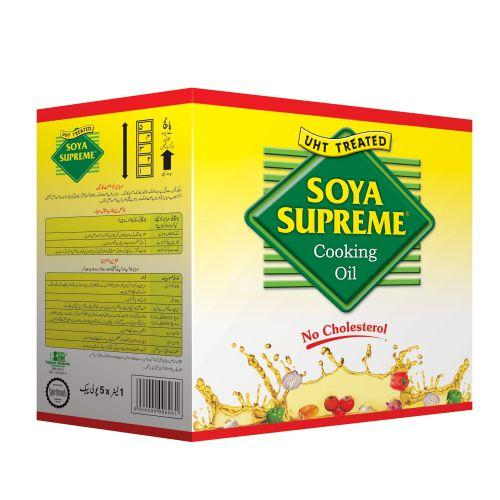 Soya Supreme Cooking Oil Tail Pouch 1 Litre X 5 Pouches (4611898835029)