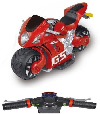 Toys Bhoomi Ultra Fast 4D Moto 2.4Ghz 1:8 Scale Gravity Sensor Handlebar Remote Control RC Drift Bike with Bright LED Light & Sound In Assorted Colors