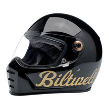 Load image into Gallery viewer, LANE SPLITTER HELMET GLOSS BLACK/GOLD FACTORY