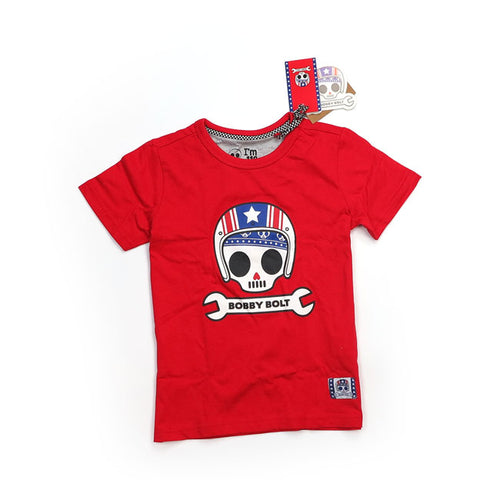 BOBBY BOLT USA T-SHIRT RED