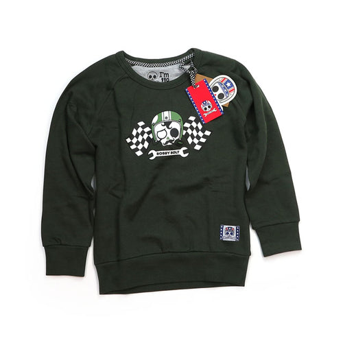 BOBBY BOLT SIR BOBBY SWEATER ARMY GREEN