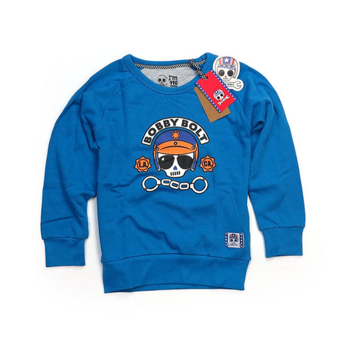 BOBBY BOLT POLICE SWEATER BLUE